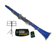 Merano B Flat BLUE Clarinet with Carrying Case