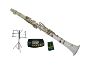 Merano B Flat WHITE Clarinet with Carrying Case