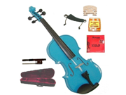 """Merano 15"""" Blue Student Viola with Case, Bow+2 Sets Strings+2 Bridges+Pitch Pipe+Rosin+Shoulder Rest"""