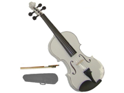 Merano 4/4 Size White Violin with Case, Bow + Free Rosin