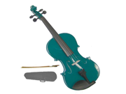 Merano 1/2 Size Green Violin with Case, Bow + Free Rosin