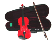 Merano MV400 4/4 Size Red Ebony Fitted Violin with Case and Bow