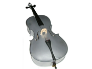 Merano MC100SV 4/4 Size Silver Cello with Bag and Bow