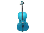 Merano MC100DBL 3/4 Size Blue Cello with Bag and Bow