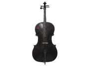 Merano MC100BK 1/16 Size Black Cello with Bag and Bow