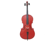 Merano MC100RD 1/10 Size Red Cello with Bag and Bow