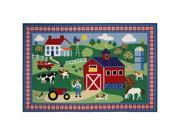 "Country Farm Area Rug - 3' 3"" x 4' 10"""