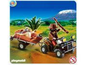 Playmobil African Wild Life #4834 Poacher With Quad Bike & Trailer