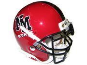 New Mexico State Aggies 1995-2004 Throwback Schutt Mini Helmet - Sold Black Stripe