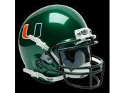 Miami Hurricanes Schutt Mini Helmet - Alternate Helmet #1
