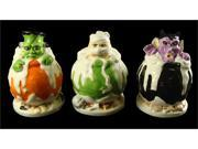 "Club Pack of 36 Mummy, Frankenstein and Vampire Halloween Figures 5.25"""