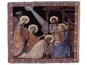 "Magi ""Three Wisemen"" & Holy Family Christmas Tapestry Throw Blanket 50"" x 60"""