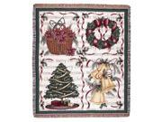 """Christmas Decorations Holiday Tapestry Throw Blanket 50"""" x 60"""""""