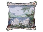 """Lakeside"" Adirondack Decorative Accent Throw Pillow 17"" x 17"""