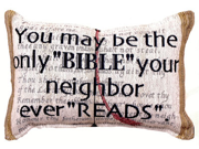 "Set Of Two ""Bible"" Decorative Throw Pillows 9"" x 12"""