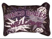 "Bunco Babes Decorative Throw Pillow 9"" x 12"""
