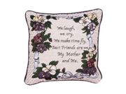 """Set of 2 """"My Mother and Me"""" Inspirational Decorative Tapestry Throw Pillows 12"""""""