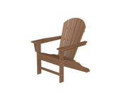 "38.5"" Recycled Earth-Friendly Outdoor Patio Adirondack Chair - Teak Brown"