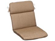 Outdoor Patio Furniture High Back Chair Cushion - Textured Tan Brown Sunbrella