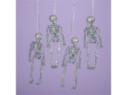 Club Pack of 12 Spooky Halloween Glitter Skeleton Ornaments