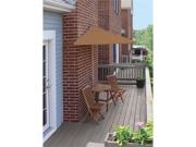 5 Piece Oval Deluxe Nyatoh Wood and Teak Sunbrella Patio Furniture Set 7.5'