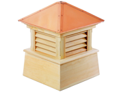 """64"""" Handcrafted """"Bristol"""" Copper Roof Wood Cupola"""