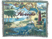 """""""State of Florida"""" Tapestry Throw Blanket 50"""" x 60"""""""