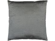 "18"" Charcoal Gray Shiny Ribbed Decorative Throw Pillow"