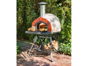 """38"""" Red Brick Front Fully Assembled Outdoor Wood-Fired Stone Oven"""
