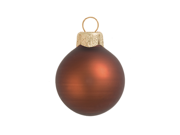 "6ct Matte Chocolate Brown Glass Ball Christmas Ornaments 4"" (100mm)"