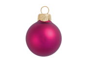 "40ct Matte Raspberry Pink Glass Ball Christmas Ornaments 1.5"" (40mm)"
