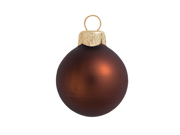 """40ct Matte Cocoa Brown Glass Ball Christmas Ornaments 1.25"""" (30mm)"""