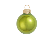"40ct Pearl Green Kiwi Glass Ball Christmas Ornaments 1.25"" (30mm)"