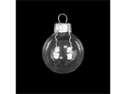"""6ct Shiny Clear Transparent Glass Ball Christmas Ornaments 4"""" (100mm)"""