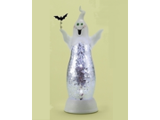 "12"" Battery Operated LED Lighted Spooky Ghost Halloween Table Top Figure"