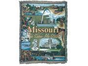 """Missouri """"The Show Me State"""" Tapestry Throw Blanket 50"""" x 60"""""""