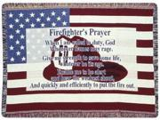 """Firefighter's Prayer Gift to Remember Afghan Throw 40"""" x 50"""""""