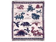 "Baby Dinosaurs Toddler Afghan Throw Blanket 50"" x 60"""