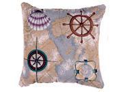 """""""Nautical Novelties"""" Decorative Accent Throw Pillow 16"""" x 16"""""""