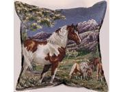 """Mustangs Wild Horses Decorative Accent Throw Pillow 17"""" x 17"""""""