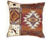 "Kokopelli Native American Decorative Throw Pillow 17"" x 17"""