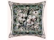 "Flowering Dogwood Decorative Accent Throw Pillow 17"" X 17"""