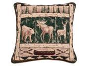 """Woodland Animals"" Decorative Accent Throw Pillow 17"" x 17"""