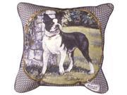 """Boston Terrier Decorative Dog Animal Throw Pillow 17"""" x 17"""""""