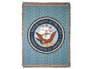 """United States Department of the Navy Military Afghan Throw Tapestry - 50"""" x 70"""""""