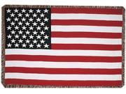 "United States American Flag 3 Layer Afghan Throw Blanket 50"" x 70"""