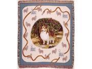 """Shetland Sheepdog Sheltie Tapestry Throw 50"""" x 60"""""""