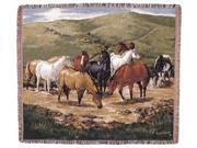 "Cripple Creek Remunda Horse Scene Tapestry Throw 50"" x 60"""
