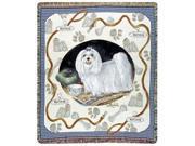 """Maltese Dog Tapestry Throw By Artist Pat Lehmkuhl 50"""" x 60"""""""