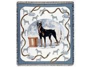 "Doberman Tapestry Throw By Artist Pat Lehmkuhl 50"" x 60"""